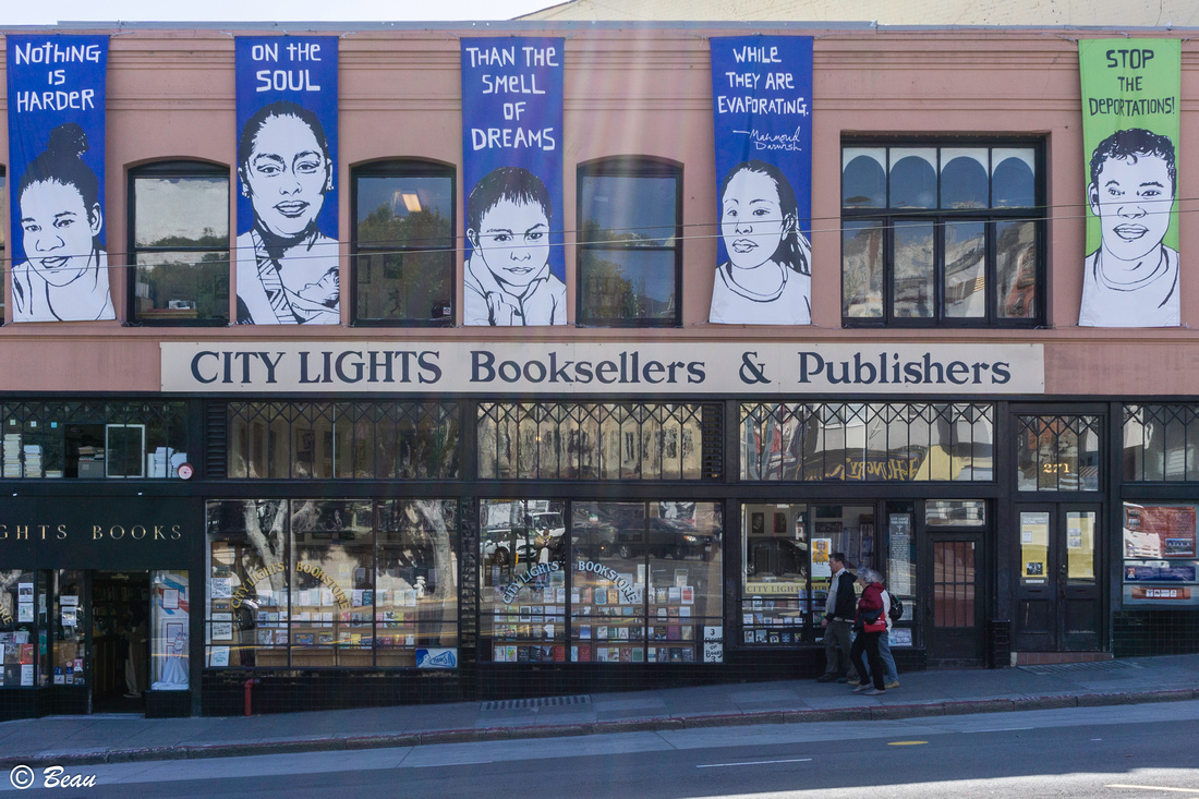 City Lights Bookstore — at Broadway & Columbus, San Francisco.